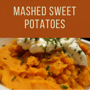Thanksgiving Mashed Sweet Potatoes To Go
